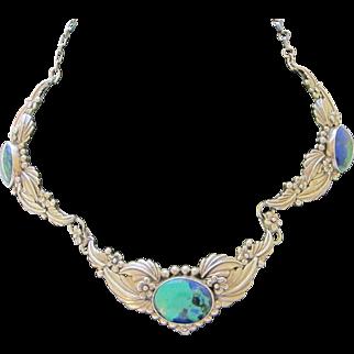 Beautiful Vintage Navajo Sterling Silver Necklace   C.1960