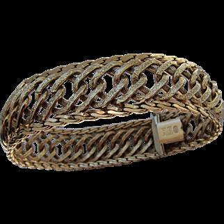 Beautiful Vintage 14 kt. Gold  Italian Bracelet  C.1960