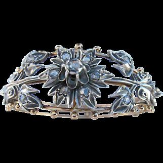Antique  Early Victorian 15kt. Gold Diamond Bracelet  C.1840