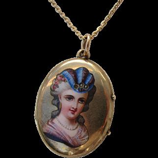 Antique Victorian 15 Kt. Gold Locket          C1850