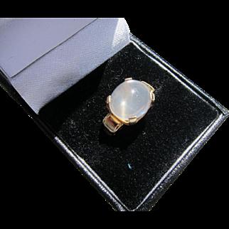 Beautiful Vintage 14 Carat Gold Moonstone Ring          C.1940