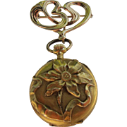 Antique Art Nouveau  14 Kt. Gold  Swiss Pendant/Watch   C.1910