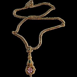 Antique Georgian Hungarian 18 kt. Gold Halley's Comet   Pendant/Necklace       C.1830's
