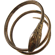 Art Deco Sterling Silver Snake Bracelet Signed Forstner     C.1930