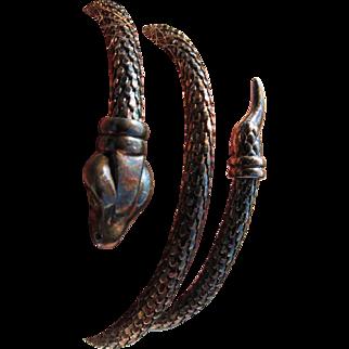 Vintage Italian Sterling Sliver Snake  Bracelet       C. 1960