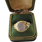 Antique Georgian 18 kt. Gold Moonstone Ring   C.1830     Christmas Sale  Price Reduced