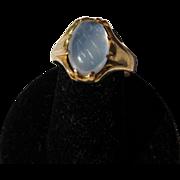 Antique Edwardian 22 kt. Gold Moonstone Ring       C.1900