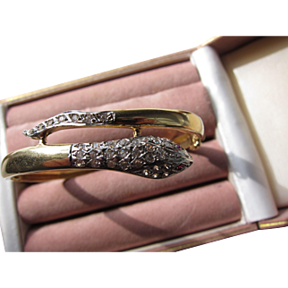 Beautiful  Vintage Art Deco 14 kt. Gold Diamond Bracelet  C.1930s