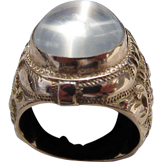 Antique Victorian 14 kt. Gold Moonstone Ring    C.1890