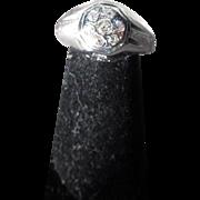 Antique Edwardian 14 kt. Gold Diamond Ring    C. 1910