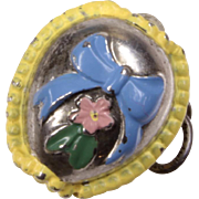 Sterling & Enamel Stanhope Easter Egg Peep Charm with Happy Easter Bunny View