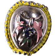 Stanhope Peep Easter Egg Charm Sterling and Enamel with Happy Easter Bunny View