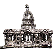 Vintage Sterling Silver Washington US Capitol Charm Stanhope