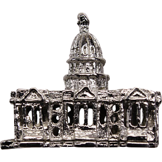 Vintage Sterling Silver Washington US Capitol Charm Stanhope