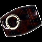 Antique Cornish Serpentine Barrel Stanhope Charm Fob Pendant