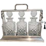 Art Deco English Silver Liquor Tantalus