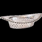 Antique English Sterling Silver Pierced Trinket Dish
