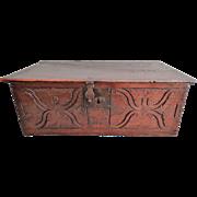 Georgian Carved Oak Bible Box