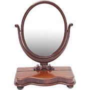 Antique Mahogany Vanity Dresser Mirror