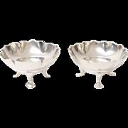 Art Nouveau Sterling Silver Bon Bon Bowls, Pair