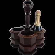 19th-Century Mahogany Wine Caddy