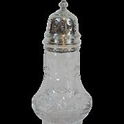 English Sterling Sugar Castor Shaker Jar, 1952