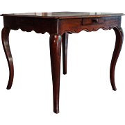 18th-Century Italian Walnut Games Table