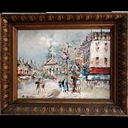 Paris Scene Oil on Canvas Post Impressionism - Red Tag Sale Item