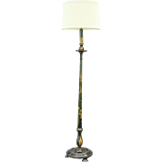 Hand Painted Chinoiserie Floor Lamp, Edwardian England