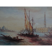 The Grand Canal, Venice, Impressionism Seascape Painting