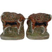 Antique Hunting Dog Bookends, Pair