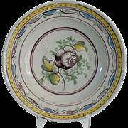 18th-Century Dutch Polychrome Delft Platter
