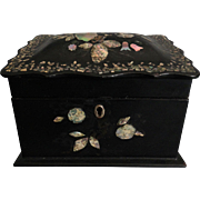 19th-C Box with Mother of Pearl