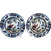 Antique Chinoiserie Plates, Pair, Flow Blue, 3 Pairs Available