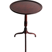 Antique Mahogany English Side Table Candle Stand
