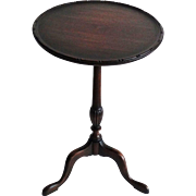 Antique Mahogany One Board Side Table Candle Stand