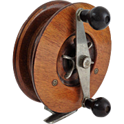 Antique Large Mahogany Fishing Reel
