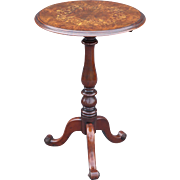 Antique French Inlay Walnut Table