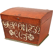 Antique Swedish Marriage Chest Box, Dated 1832