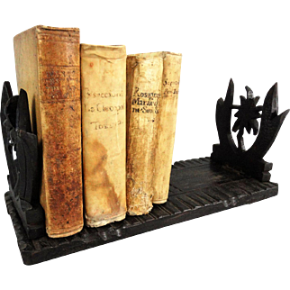 Antique Carved Black Forest Book Slide