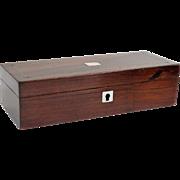 Antique Rosewood Pen & Pencil Box