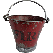 Early English Metal Fire Bucket