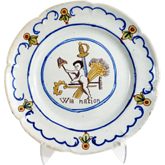 Antique French Faience Cabinet Plate