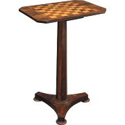 Cribbage & Checkers Games Table, Antique, English