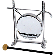 Silver Plated Dinner Gong, English, for Table