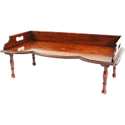 Antique Inlay Breakfast Bed Tray with Legs, English