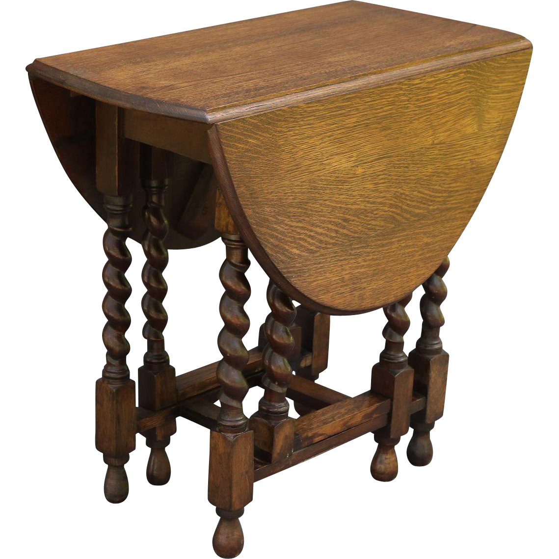 Antique English Oak Twist Drop Leaf Table From Faded Rose Antiques Llc . Full resolution  photograph, nominally Width 1139 Height 1139 pixels, photograph with #996E32.