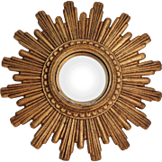 Continental Gilt Sunburst Convex Mirror
