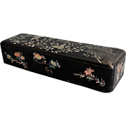 19th-Century English Ebonized Mother of Pearl Box