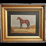 Racehorse Oil Painting, England, Circa 1930